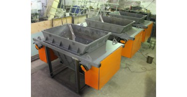 Revised bucket and cart for concrete transport system