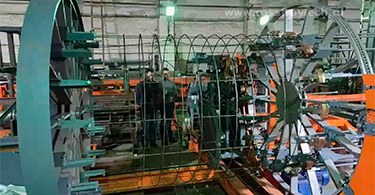 Polygonal cage and piles making machines